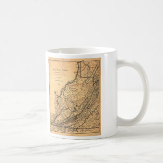 Map of Western Virginia by W. L. Nicholson (1862) Coffee Mug