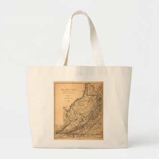 Map of Western Virginia by W. L. Nicholson (1862) Large Tote Bag