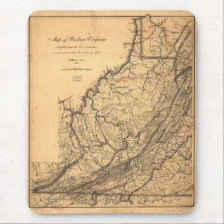 Map of Western Virginia by W. L. Nicholson (1862) Mouse Pad