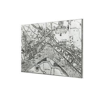 Map of Westminster from 'Speculum Britannia' Canvas Print