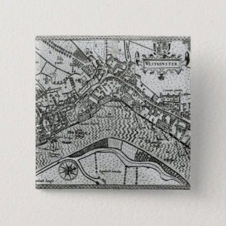 Map of Westminster from 'Speculum Britannia' Pinback Button