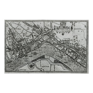 Map of Westminster from 'Speculum Britannia' Poster