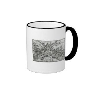 Map of Westminster from 'Speculum Britannia' Ringer Mug