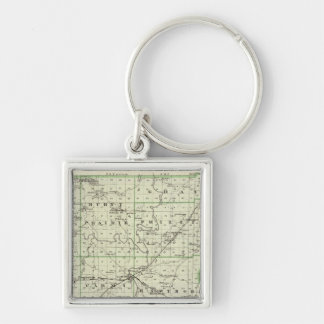 Map of White County Keychain