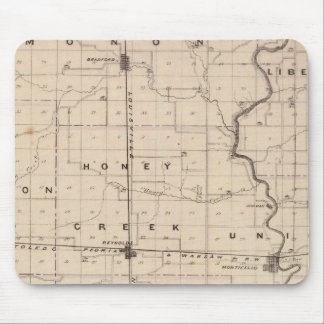 Map of White County Mouse Pad