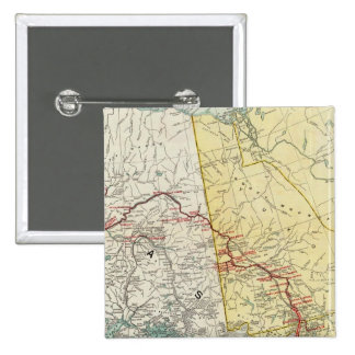 Map Of White Pass & Yukon Route And Connections 2 Inch Square Button