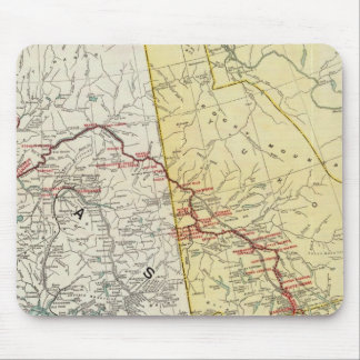 Map Of White Pass & Yukon Route And Connections Mouse Pad