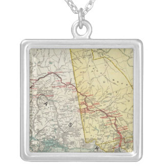 Map Of White Pass & Yukon Route And Connections Silver Plated Necklace