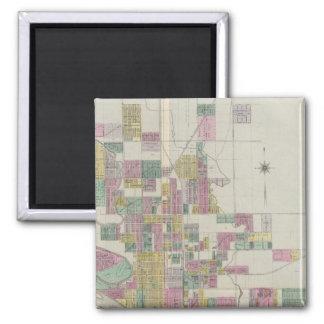 Map of Wichita, Kansas Refrigerator Magnets