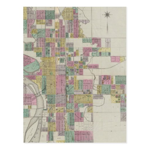 Map Of Wichita Kansas Postcard  Zazzle