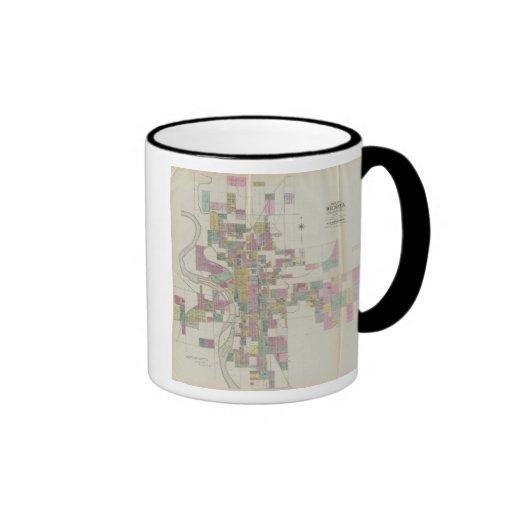 Map of Wichita, Kansas Ringer Coffee Mug
