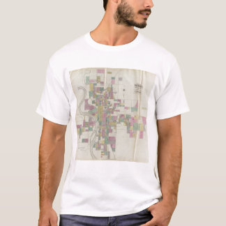 Map of Wichita, Kansas T-Shirt