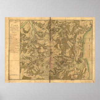 Map of Williamsburg for Comte de Rochambeau Poster