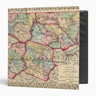 Map of Winfield, West Virginia 3 Ring Binders