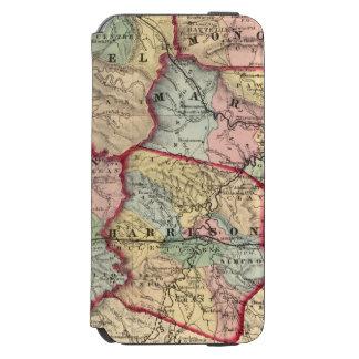 Map of Winfield, West Virginia iPhone 6/6s Wallet Case