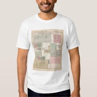 Map of Winnebago City Map of Blue Earth, Minnesota T-shirt