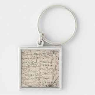 Map of Winnebago County and Belvidere Keychain