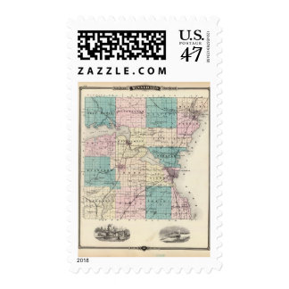 Map of Winnebago County, State of Wisconsin Postage