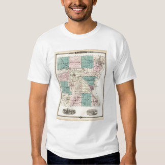 Map of Winnebago County, State of Wisconsin Shirt