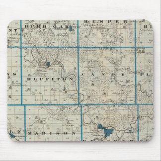 Map of Winneshiek County, State of Iowa Mouse Pad
