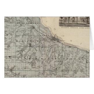 Map of Winona County, Minnesota Greeting Card