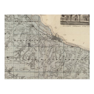 Map of Winona County, Minnesota Postcard