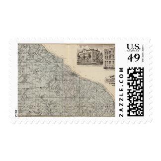 Map of Winona County, Minnesota Stamp