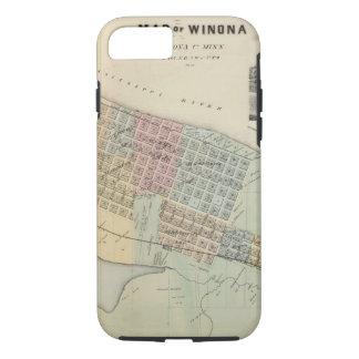 Map of Winona, Minnesota iPhone 8/7 Case