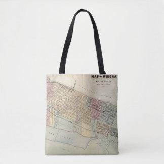 Map of Winona, Minnesota Tote Bag