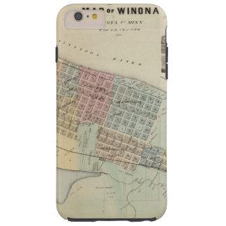 Map of Winona, Minnesota Tough iPhone 6 Plus Case