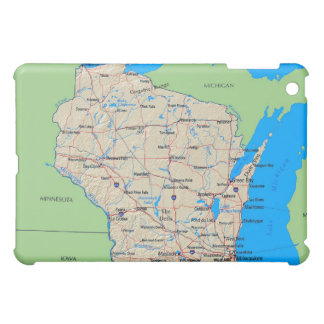 Map of Wisconsin iPad Case (Green)