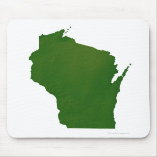 Map of Wisconsin Mouse Pad