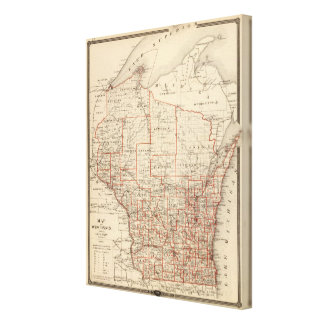 Map of Wisconsin, showing assembly districts Canvas Print