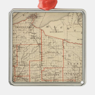 Map of Wisconsin, showing assembly districts Metal Ornament