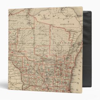Map of Wisconsin showing senatorial districts Vinyl Binders