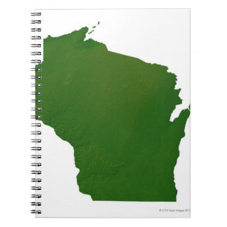 Map of Wisconsin Spiral Notebook