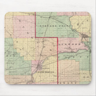 Map of Wood and Portage counties Mouse Pad