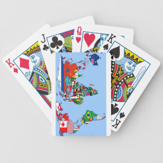 Map of World Flags 2014 Bicycle Playing Cards