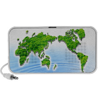 Map of world floating on water iPhone speaker