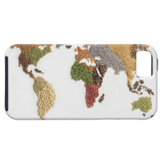 Map of world made of various seeds iPhone 5 cases