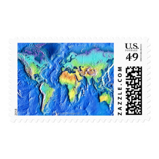 Map of world postage