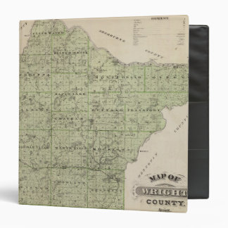 Map of Wright County, Minnesota 3 Ring Binder