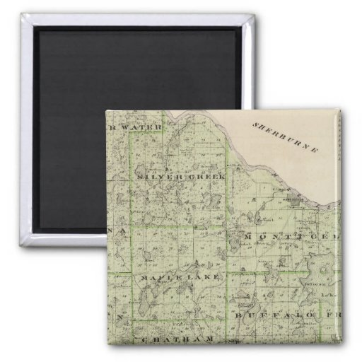 Map of Wright County, Minnesota Refrigerator Magnets