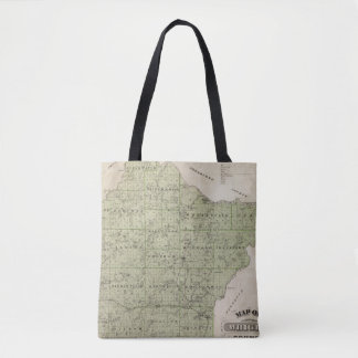 Map of Wright County, Minnesota Tote Bag