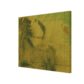 Map of Wyoming 2 Canvas Print