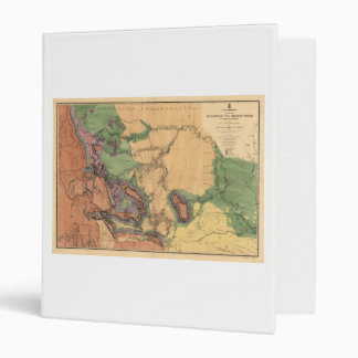 Map of Yellowstone and Missouri Rivers (1860) 3 Ring Binder