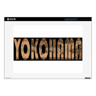 Map of Yokohama 1855 Decals For Laptops