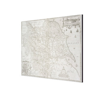 Map of Yorkshire, engraved by William Web, publish Canvas Print