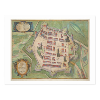Map of Zamosc, from 'Civitates Orbis Terrarum' by Postcard