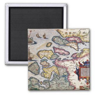 Map of Zeeland, c.1560 Magnet